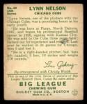 1934 Goudey #60   Lynn Nelson Back Thumbnail