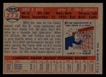 1957 Topps #273  Jim Davis  Back Thumbnail