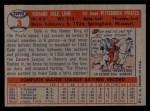 1957 Topps #3   Dale Long Back Thumbnail