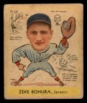 1938 Goudey Heads Up #276   Zeke Bonura Front Thumbnail