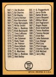 1968 Topps #518 MAJ Checklist 7  -  Clete Boyer Back Thumbnail