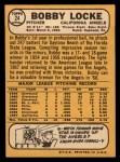 1968 Topps #24   Bobby Locke Back Thumbnail