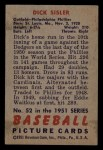 1951 Bowman #52  Dick Sisler  Back Thumbnail