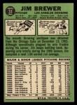 1967 Topps #31   Jim Brewer Back Thumbnail