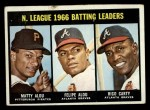 1967 Topps #240  NL Batting Leaders  -  Felipe Alou / Matty Alou / Rico Carty Front Thumbnail