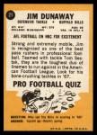 1967 Topps #21  Jim Dunaway  Back Thumbnail
