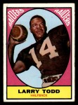 1967 Topps #108   Larry Todd Front Thumbnail