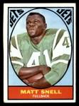 1967 Topps #102   Matt Snell Front Thumbnail