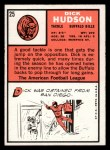 1966 Topps #25   Dick Hudson Back Thumbnail