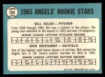 1965 Topps #194   Angels Rookie Stars  -  Bill Kelso / Rick Reichardt Back Thumbnail