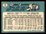 1965 Topps #75  Deron Johnson  Back Thumbnail