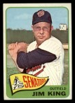 1965 Topps #38   Jim King Front Thumbnail