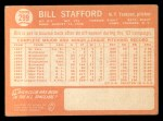 1964 Topps #299   Bill Stafford Back Thumbnail