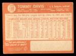 1964 Topps #180   Tommy Davis Back Thumbnail