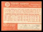 1964 Topps #330   Tommy Harper Back Thumbnail