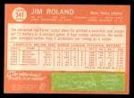 1964 Topps #341  Jim Roland  Back Thumbnail