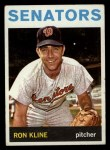 1964 Topps #358  Ron Kline  Front Thumbnail