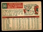 1959 Topps #245  Ned Garver  Back Thumbnail