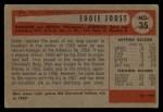 1954 Bowman #35 B  Eddie Joost Back Thumbnail