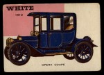 1953 Topps World on Wheels #17  White Opera Coupe 1910  Front Thumbnail
