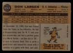1960 Topps #353  Don Larsen  Back Thumbnail
