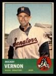 1963 Topps #402   Mickey Vernon Front Thumbnail