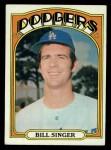 1972 Topps #25  Bill Singer  Front Thumbnail