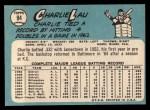1965 Topps #94   Charlie Lau Back Thumbnail