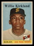 1958 Topps #128   Willie Kirkland Front Thumbnail