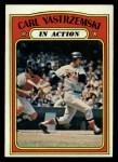 1972 Topps #38  In Action  -  Carl Yastrzemski Front Thumbnail