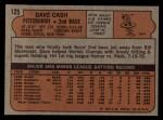 1972 Topps #125   Dave Cash Back Thumbnail
