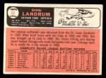 1966 Topps #43 ERR 1 Don Landrum  Back Thumbnail