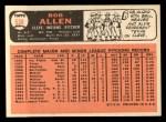 1966 Topps #538   Bob Allen Back Thumbnail