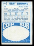 1968 Topps #177  Jerry Simmons  Back Thumbnail