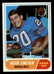 1968 Topps #19   Keith Lincoln Front Thumbnail