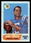 1968 Topps #185   Gary Cuozzo Front Thumbnail