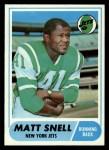 1968 Topps #117  Matt Snell  Front Thumbnail