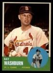 1963 Topps #206  Ray Washburn  Front Thumbnail