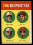 1963 Topps #29 COR  Rookie Stars  -  Sammy Ellis / Ray Culp / John Boozer / Jesse Gonder Front Thumbnail