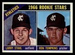 1966 Topps #107  A's Rookies  -  Larry Stahl / Ron Tompkins Front Thumbnail