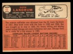 1966 Topps #43 ERR 2  Don Landrum Back Thumbnail