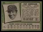 1971 Topps #293   Pat Corrales Back Thumbnail