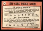 1969 Topps #404  Cubs Rookies  -  Vic LaRose / Gary Ross Back Thumbnail