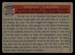 1957 Topps #400   -  Carl Furillo / Gil Hodges / Roy  Campanella / Duke Snider Dodgers' Sluggers Back Thumbnail