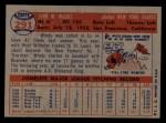 1957 Topps #291   Windy McCall Back Thumbnail