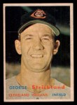 1957 Topps #263   George Strickland Front Thumbnail
