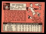 1969 Topps #326   Gary Sutherland Back Thumbnail