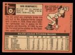 1969 Topps #84   Bob Humphreys Back Thumbnail