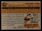 1960 Topps #138  Rookie Stars  -  Art Mahaffey Back Thumbnail