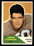1960 Fleer #107  John Carson  Front Thumbnail